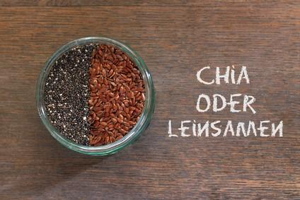 Chia-Samen-oder-Leinsamen